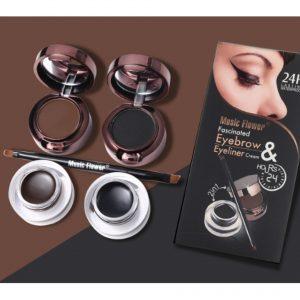Kiss beauty 4 In 1 Gel Liner & Eyebrow Kit - Black & Brown