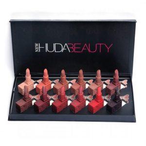 New Huda Beauty 12 Color Lipstick Box